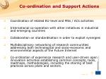 co ordination and support actions