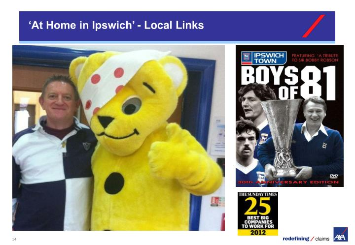 'At Home in Ipswich' - Local Links