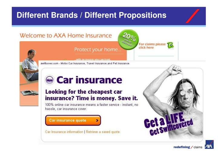 Different Brands / Different Propositions