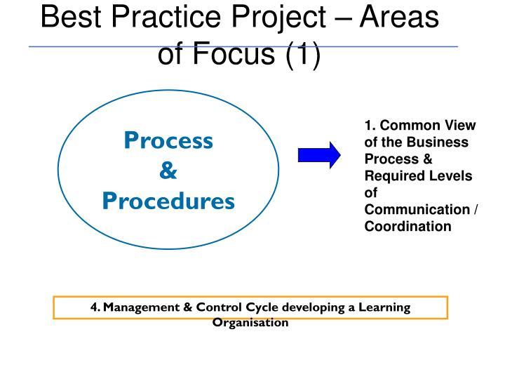 Best Practice Project – Areas of Focus (1)