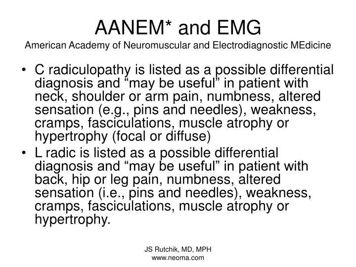 AANEM* and EMG