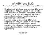 aanem and emg american academy of neuromuscular and electrodiagnostic medicine