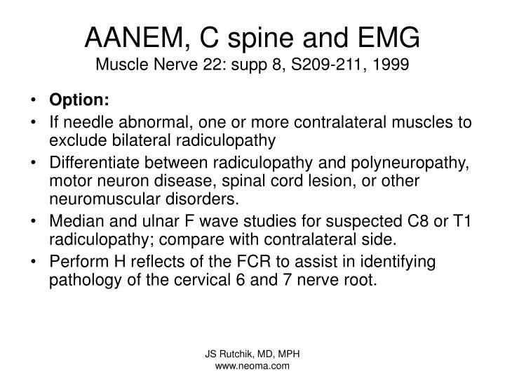 AANEM, C spine and EMG