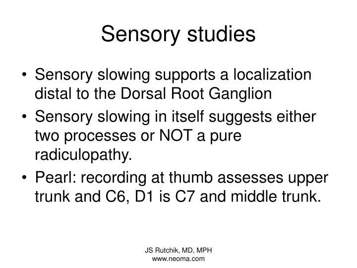 Sensory studies