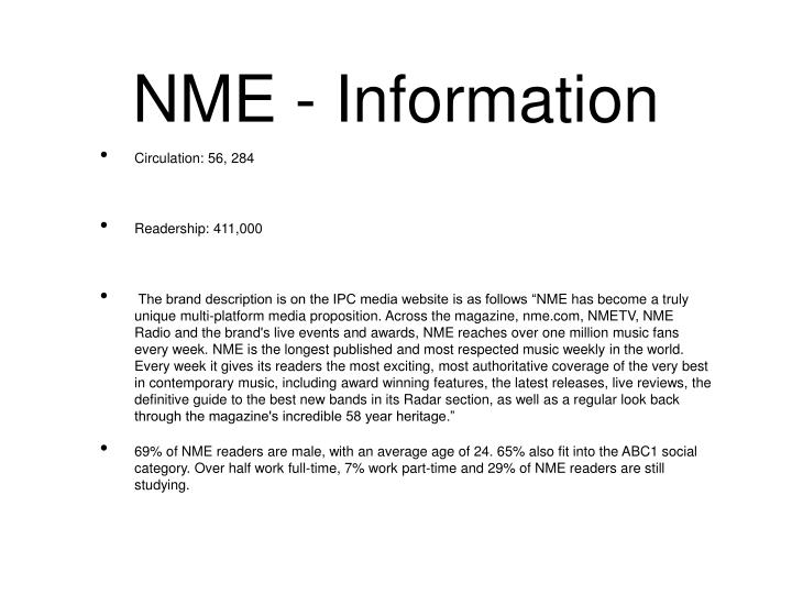 NME - Information