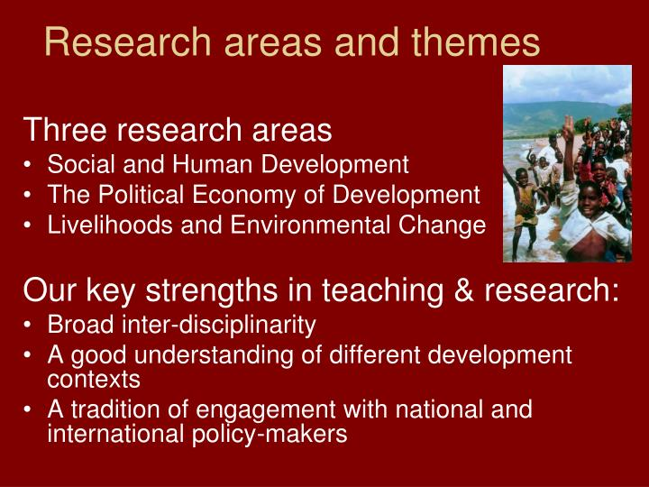 Research areas and themes
