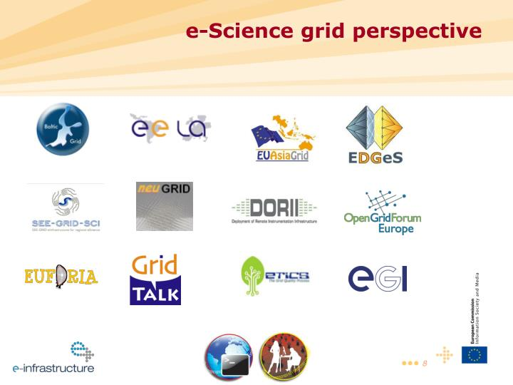 e-Science grid perspective