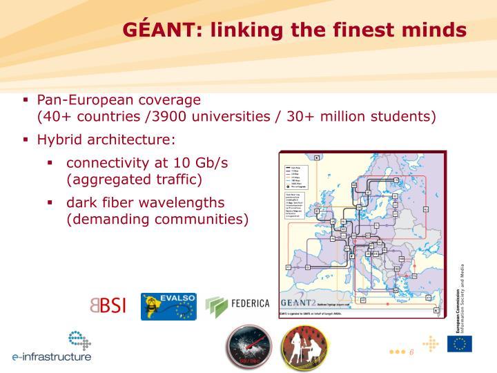 GÉANT: linking the finest minds