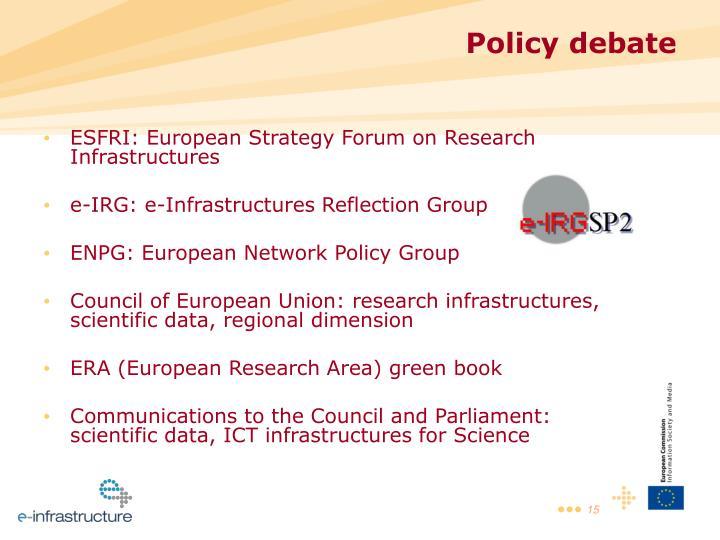 ESFRI: European Strategy Forum on Research Infrastructures