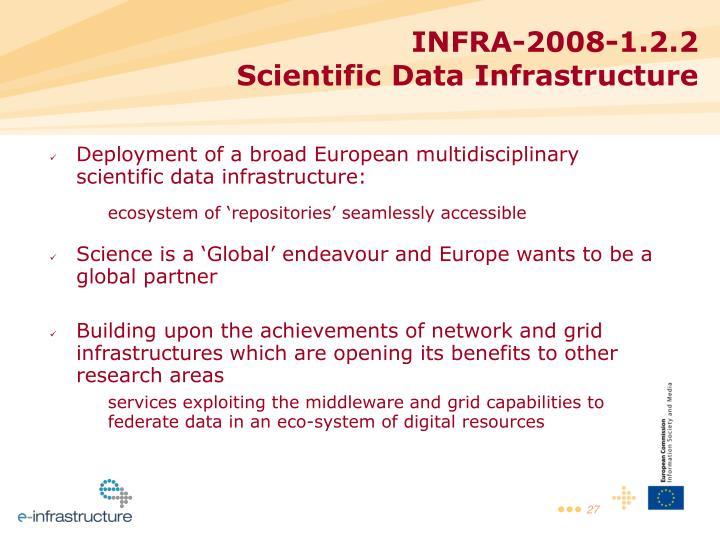 Deployment of a broad European multidisciplinary scientific data infrastructure: