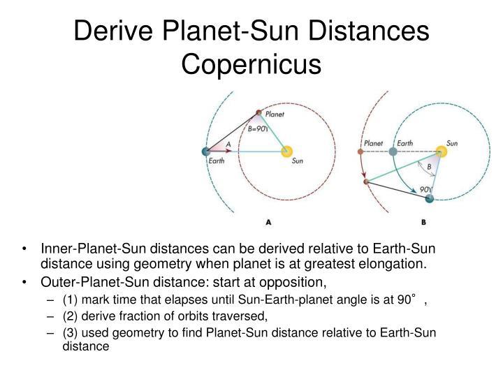 Derive Planet-Sun Distances