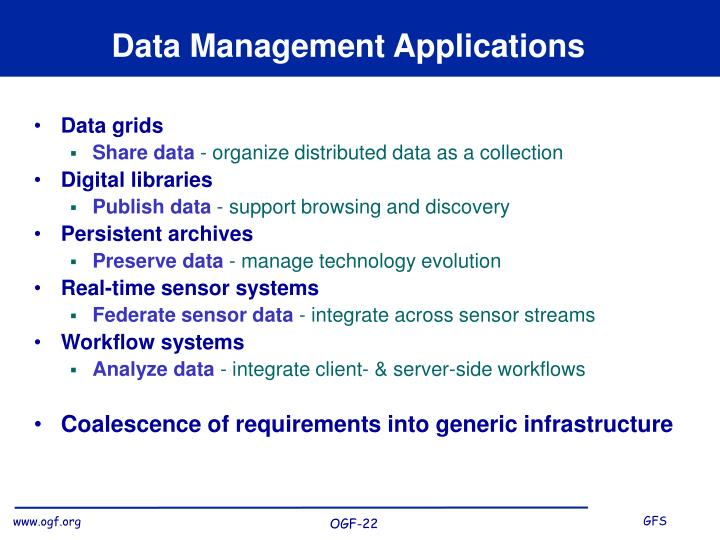 Data Management Applications