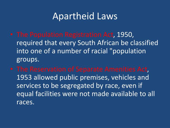 Apartheid Laws
