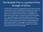 the baobab tree is a symbol of the strength of africa