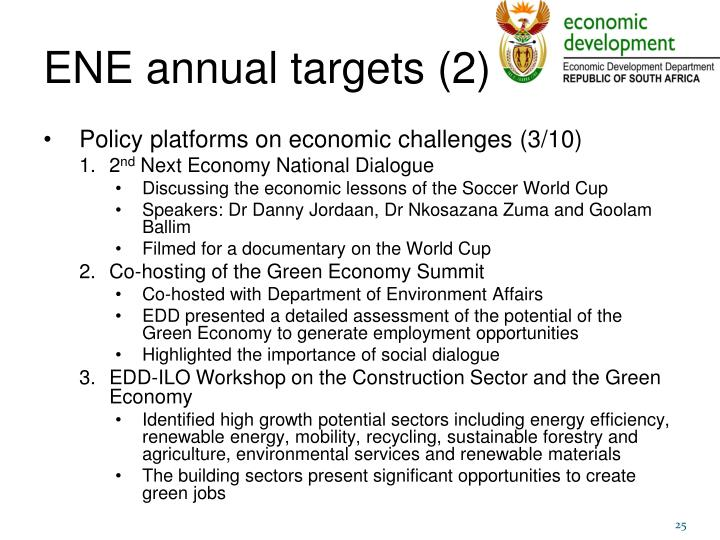 ENE annual targets (2)