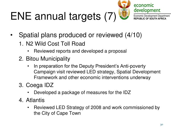 ENE annual targets (7)