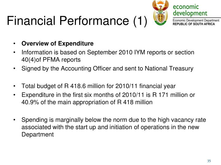 Financial Performance (1)