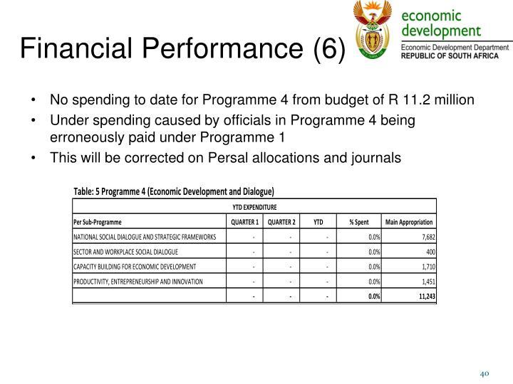 Financial Performance (6)