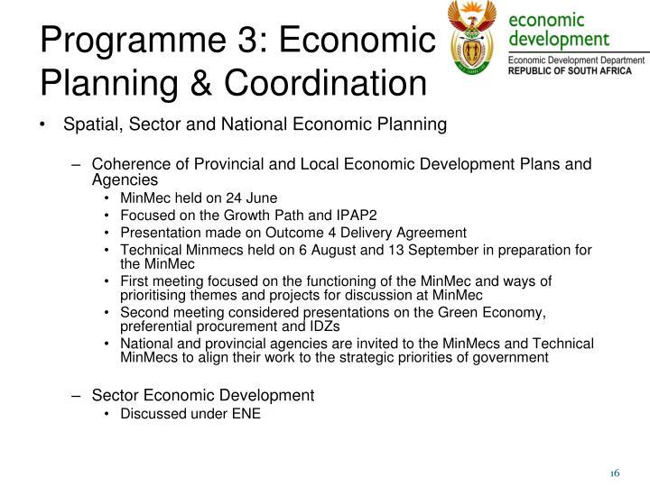 Programme 3: Economic