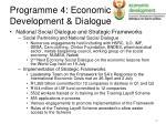 programme 4 economic development dialogue