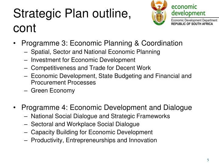 Strategic Plan outline,