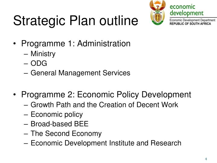 Strategic Plan outline