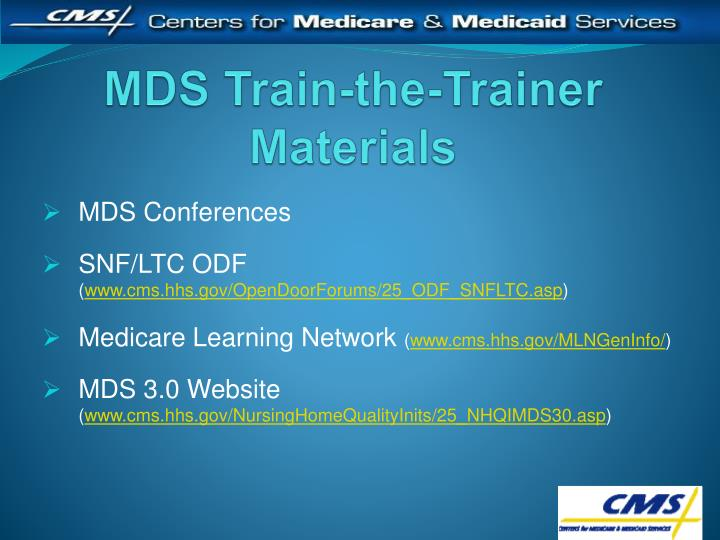 MDS Train-the-Trainer Materials