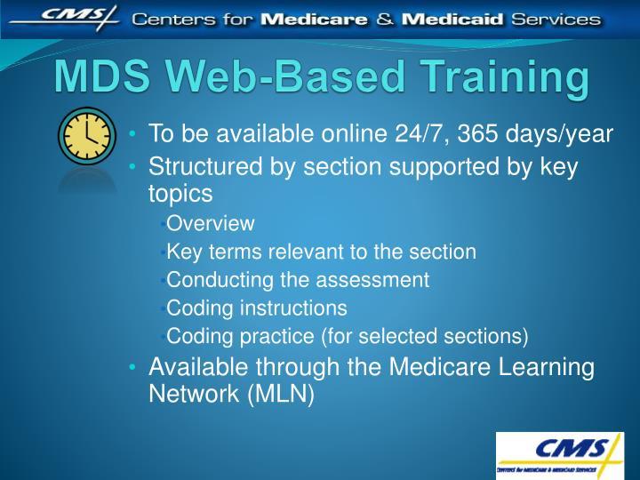 MDS Web-Based Training