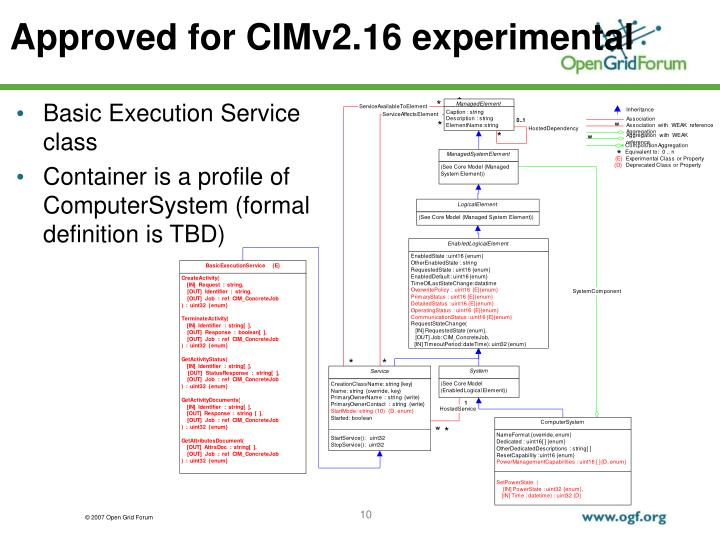 Approved for CIMv2.16 experimental