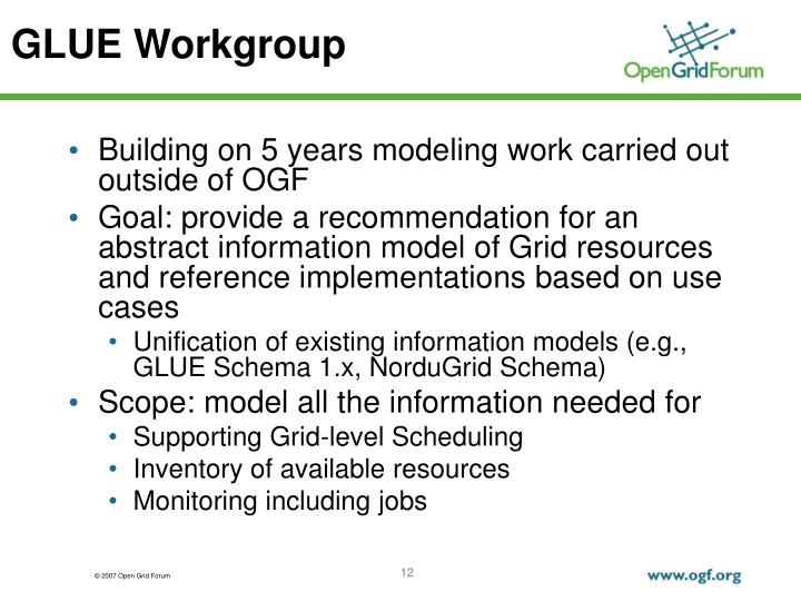 GLUE Workgroup
