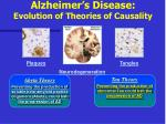 alzheimer s disease evolution of theories of causality