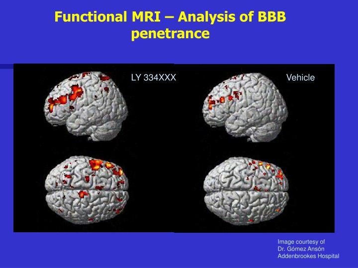 Functional MRI – Analysis of BBB penetrance