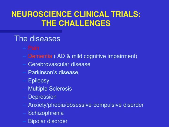 NEUROSCIENCE CLINICAL TRIALS: