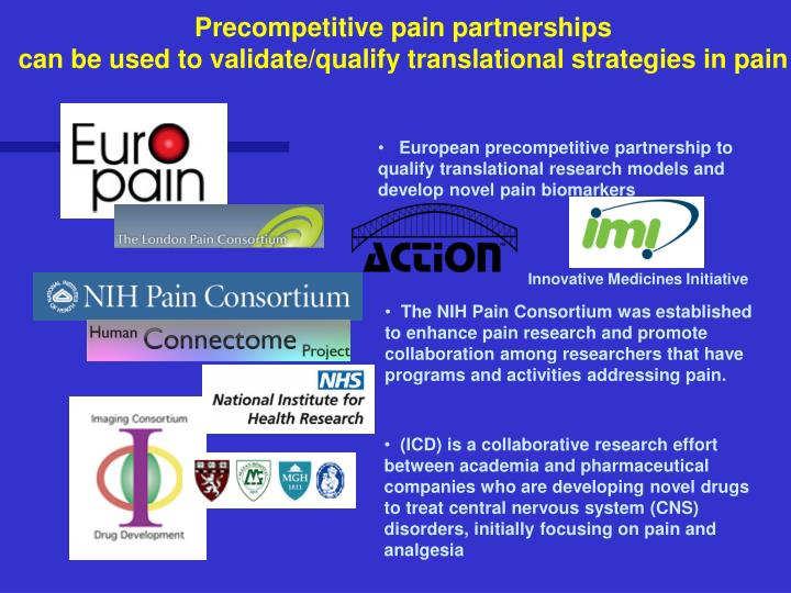 Precompetitive pain partnerships