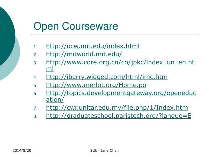 Open Courseware