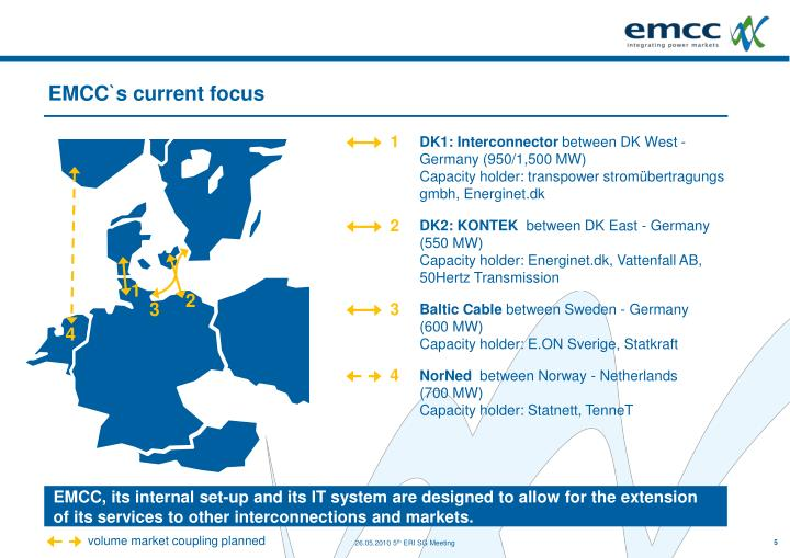 EMCC`s current focus