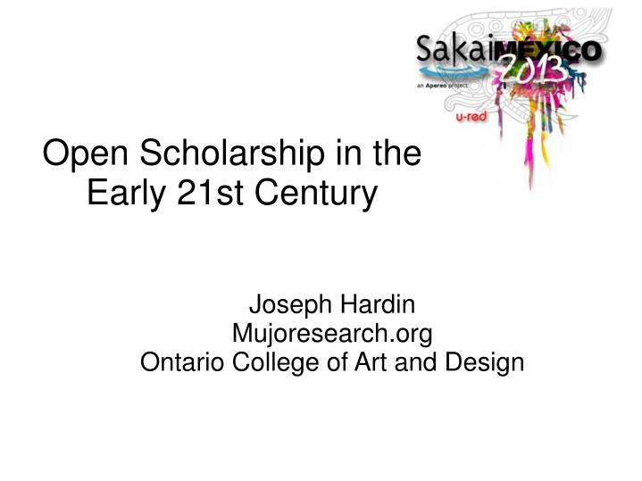 joseph hardin mujoresearch org ontario college of art and design