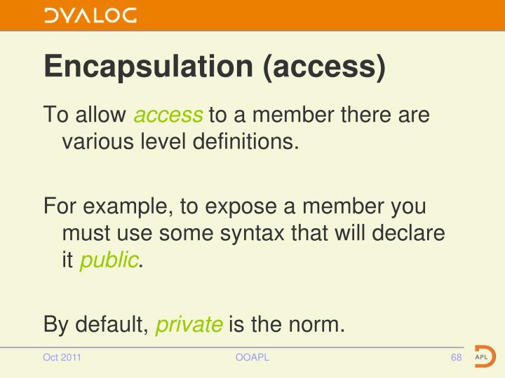 Encapsulation (access)