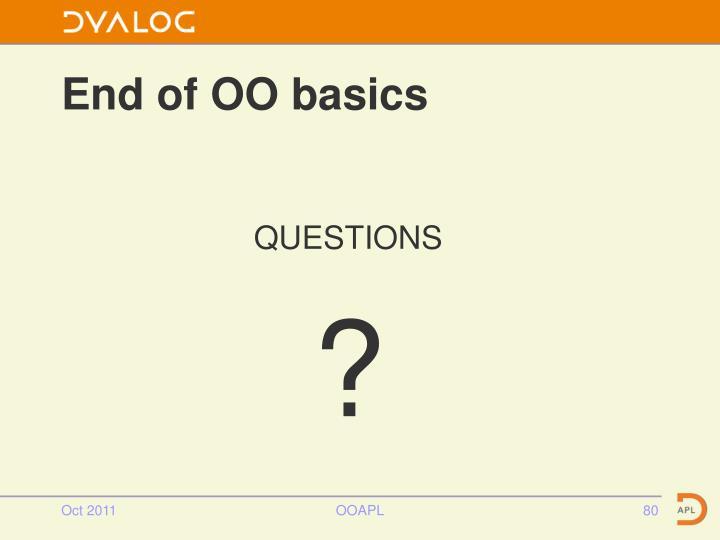 End of OO basics