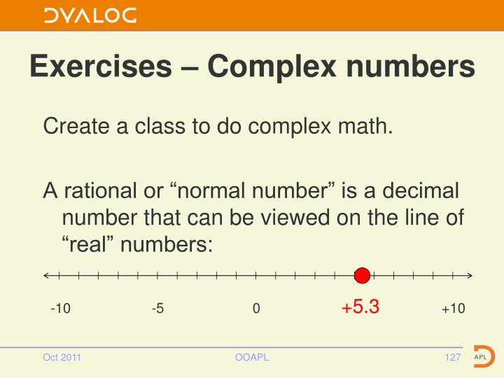 Exercises – Complex numbers
