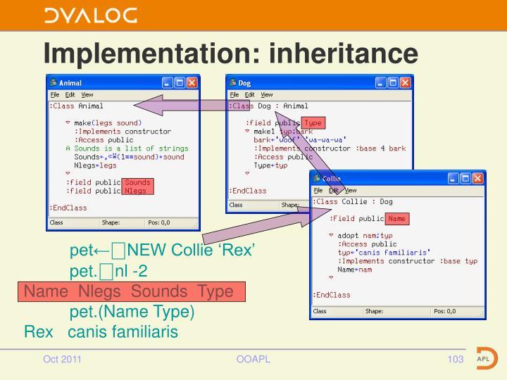 Implementation: inheritance