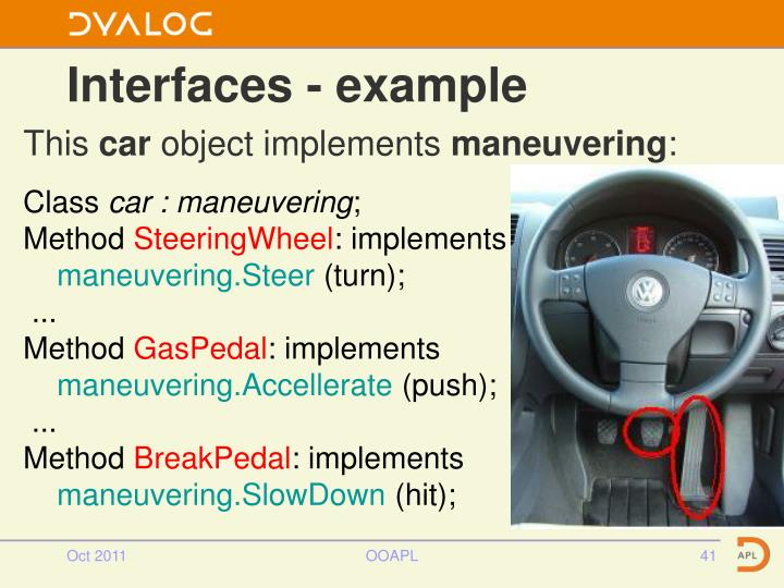 Interfaces - example