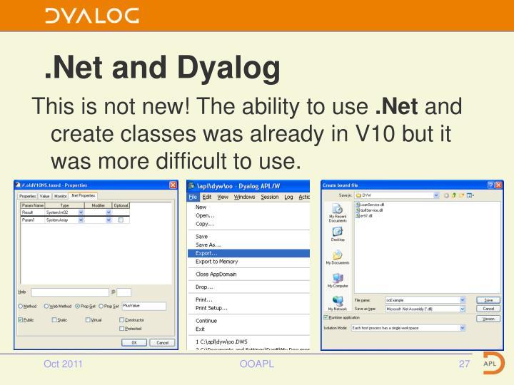 .Net and Dyalog