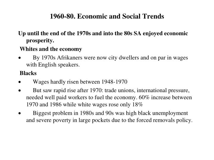 1960-80. Economic and Social Trends