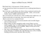 impact on black society 1960 80