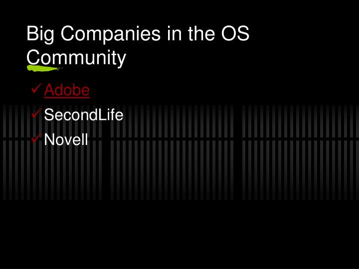 Big Companies in the OS Community