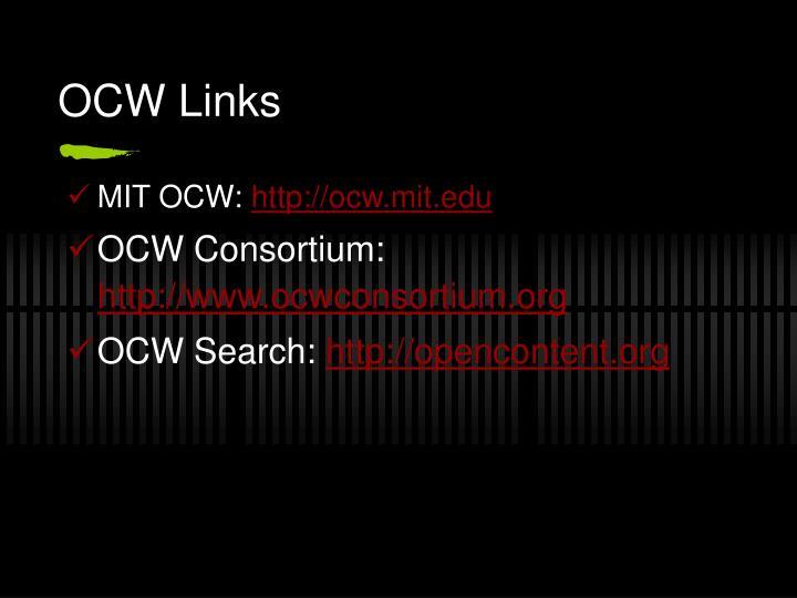 OCW Links