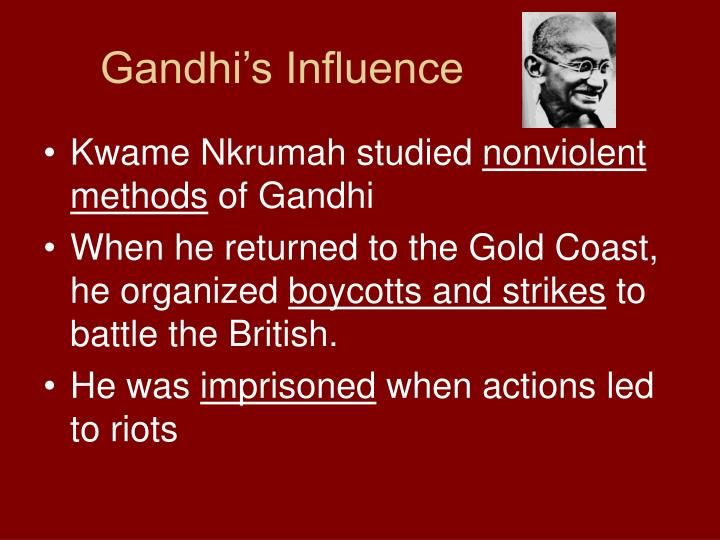Gandhi s influence