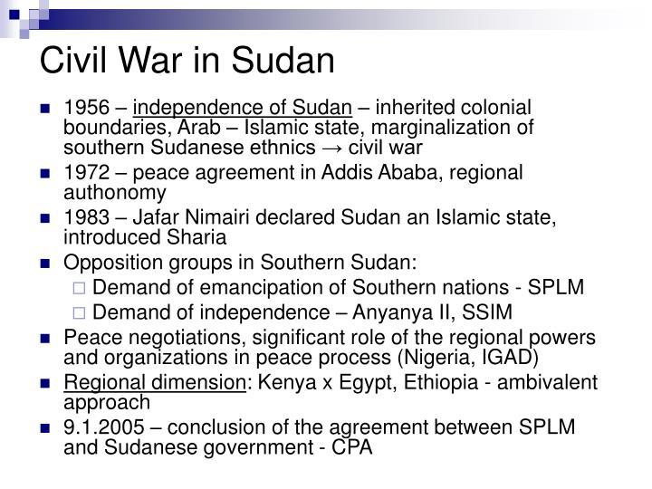 Civil War in Sudan