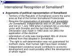 international recognition of somaliland
